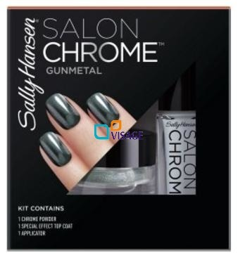 Sally Hansen Salon CHROME Kit Gunmetal Zestaw Gunmetal